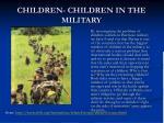 children children in the military