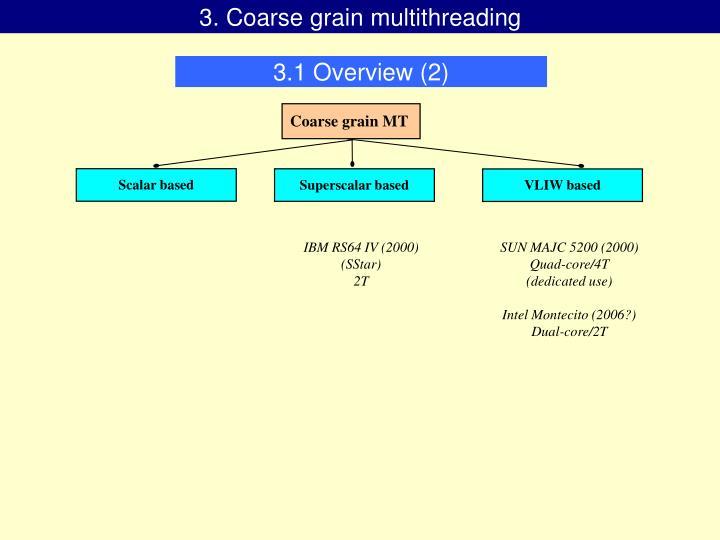 3. Coarse grain multithreading