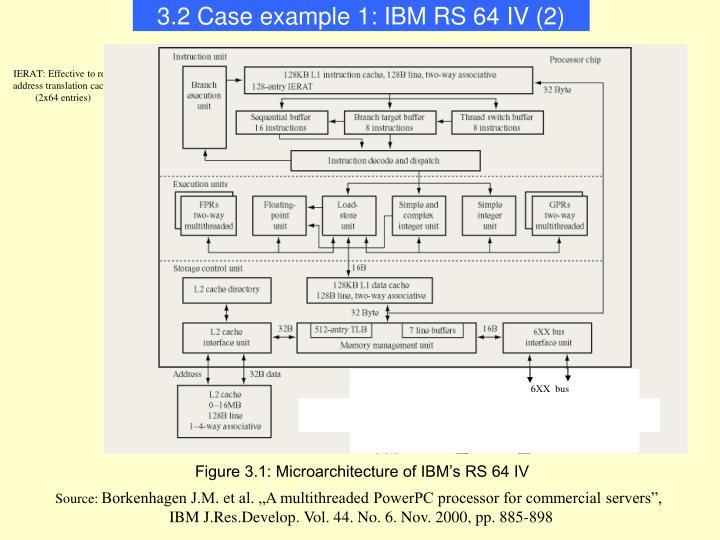 3.2 Case example 1: IBM RS 64 IV (2)