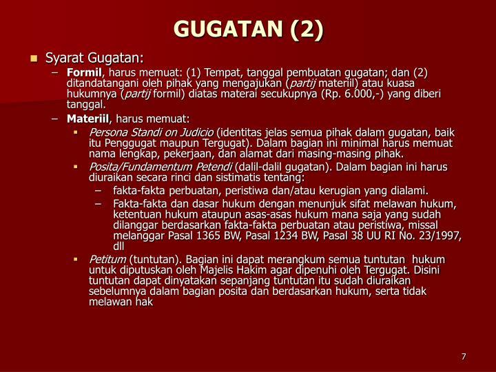 GUGATAN (2)