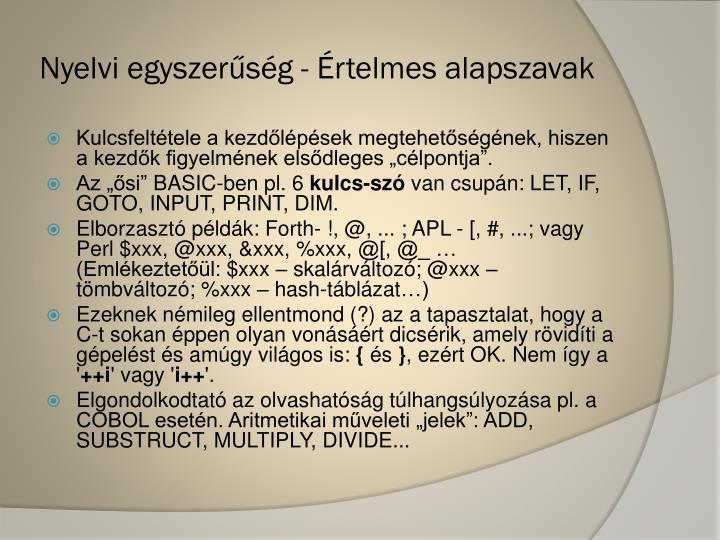 Nyelvi egyszerűség -