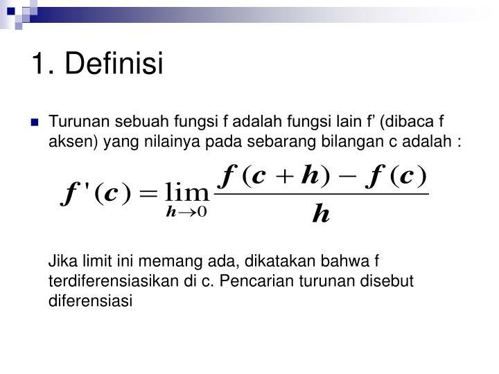 1 definisi