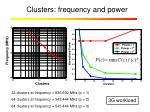 clusters frequency and power