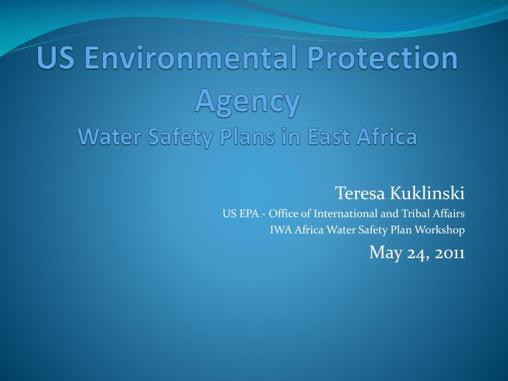 Us environmental protection agency water safety plans in east africa