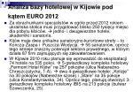 analiza bazy hotelowej w kijowie pod k tem euro 2012