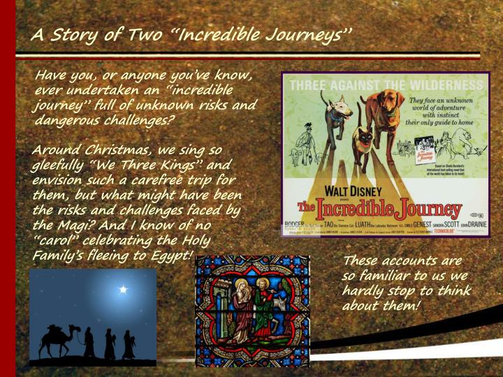 """Around Christmas, we sing so gleefully """"We Three Kings"""" and envision such a carefree trip for th..."""