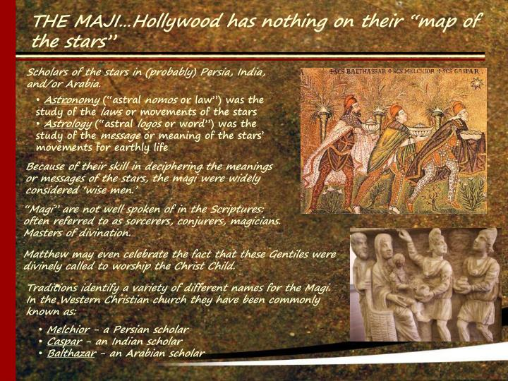 """THE MAJI…Hollywood has nothing on their """"map of the stars"""""""