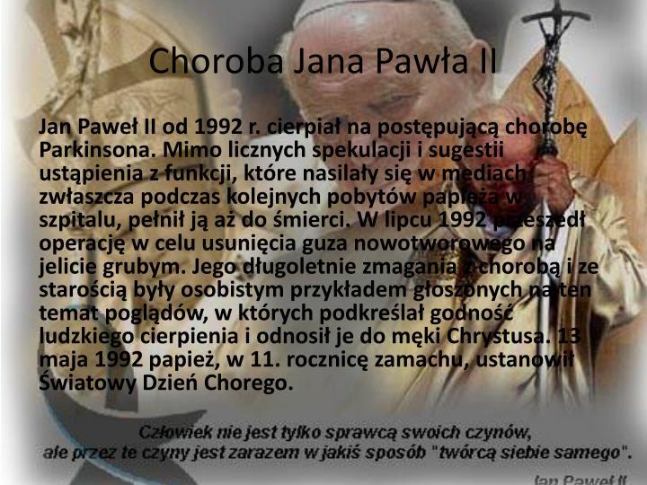 Choroba Jana Pawła II