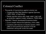 colonial conflict