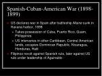 spanish cuban american war 1898 1899
