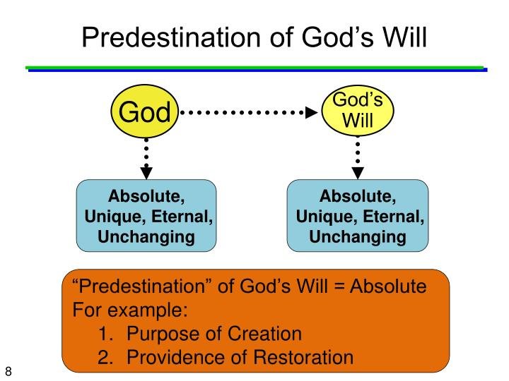 Predestination of God's Will