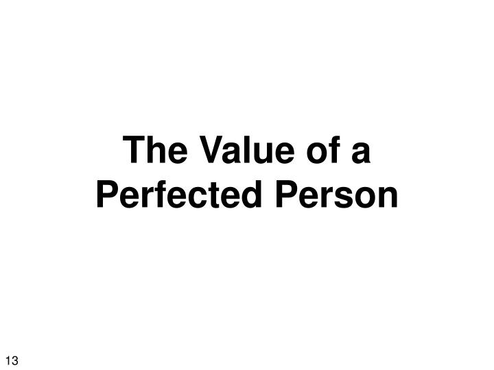 The Value of a