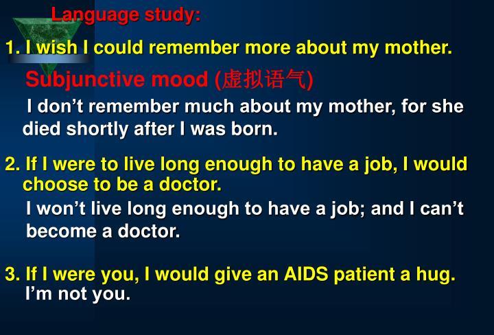 Language study: