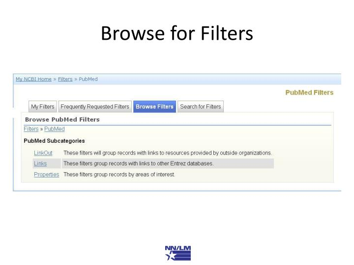 Browse for Filters