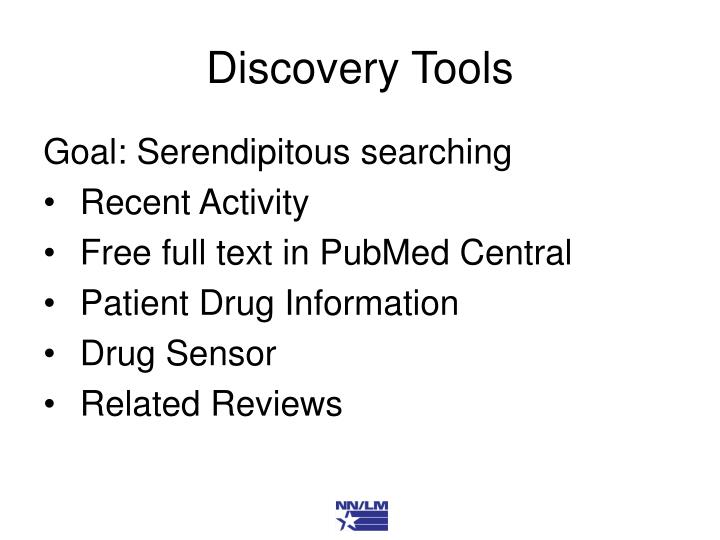 Discovery Tools