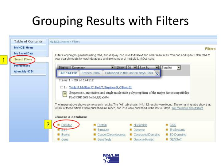 Grouping Results with Filters