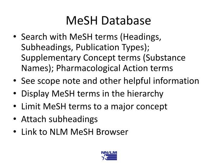 MeSH Database
