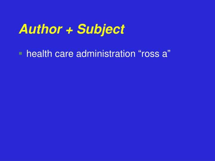 Author + Subject
