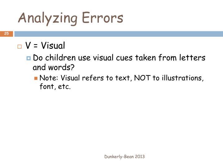 Analyzing Errors