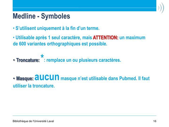 Medline - Symboles