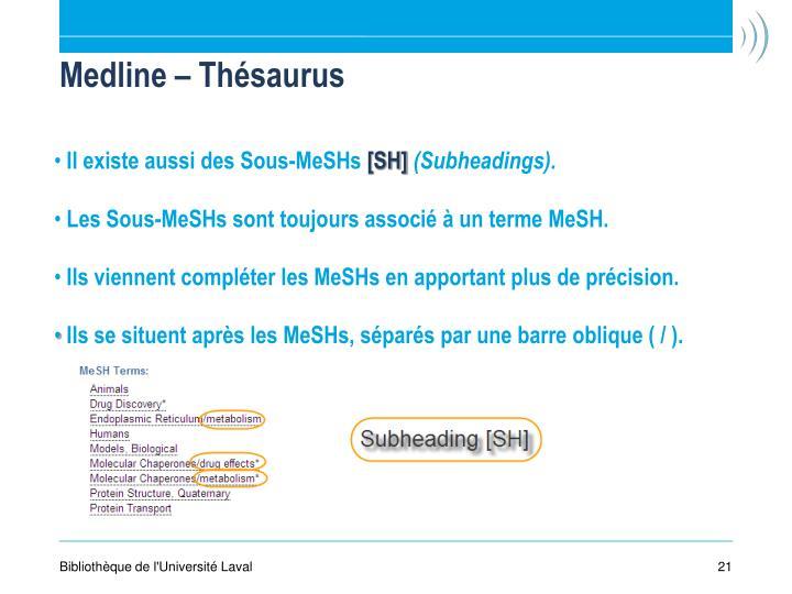 Medline – Thésaurus