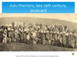 zulu warriors late 19th century postcard