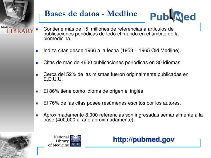 Bases de datos - Medline