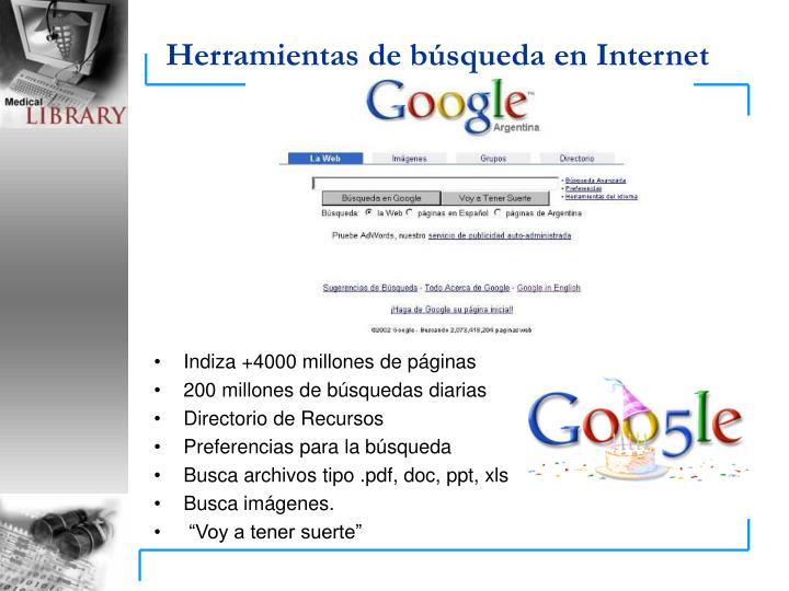 Herramientas de búsqueda en Internet
