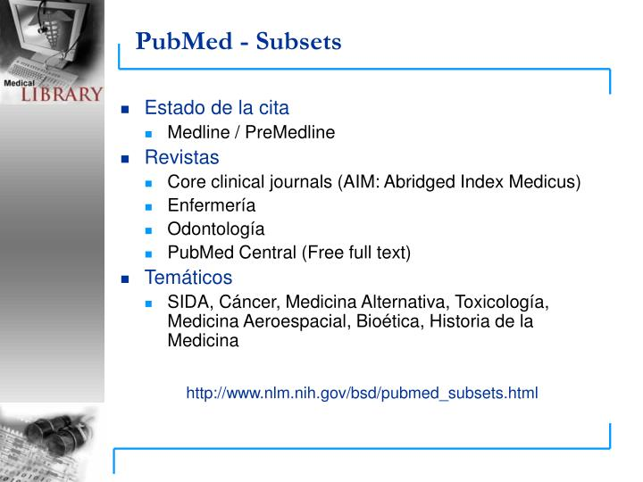 PubMed - Subsets