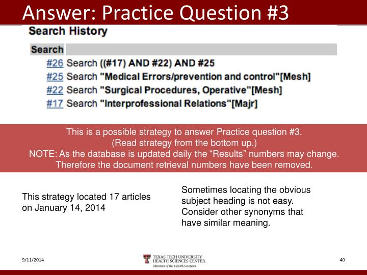 Answer: Practice Question #3
