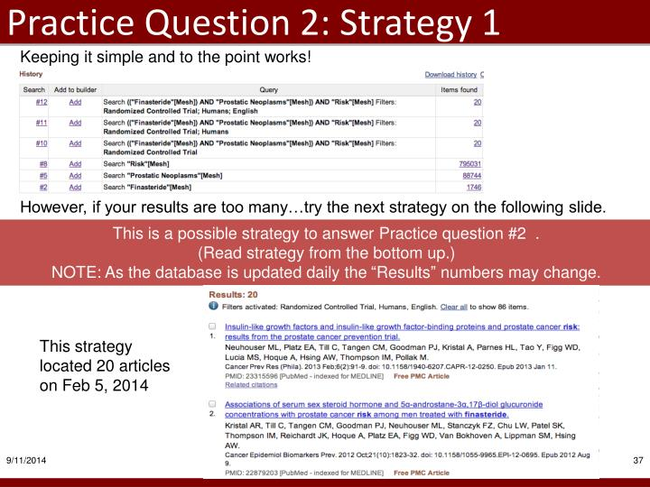 Practice Question 2: Strategy 1
