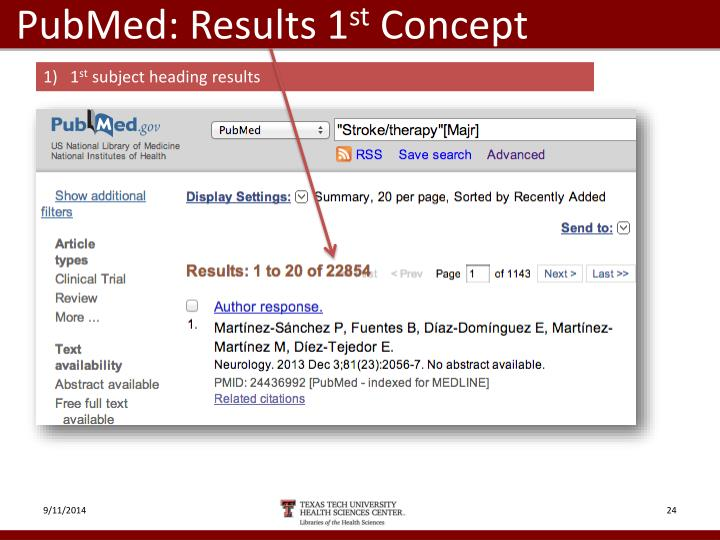 PubMed: Results 1