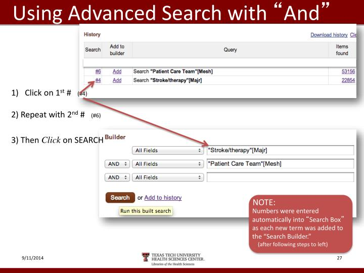 Using Advanced Search with
