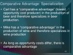 comparative advantage specialization