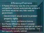 efficiency fairness