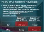 opportunity cost table