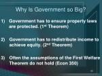 why is government so big