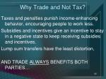 why trade and not tax