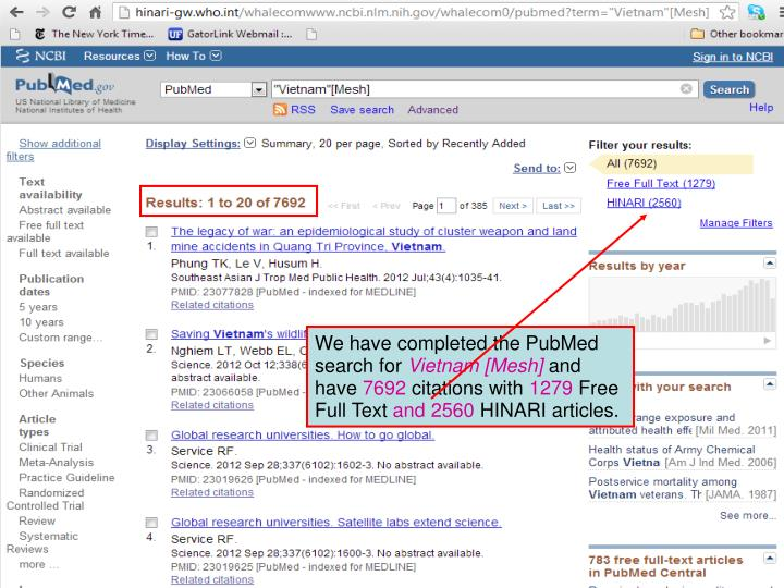 We have completed the PubMed search for