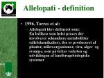 allelopati definition
