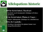 allelopatiens historie