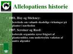 allelopatiens historie1