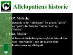 allelopatiens historie2