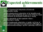expected achievements i