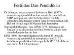 fertilitas dan pendidikan1