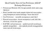 ideal family sizes son preference kap keluarga berencana
