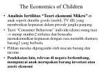 the economics of children