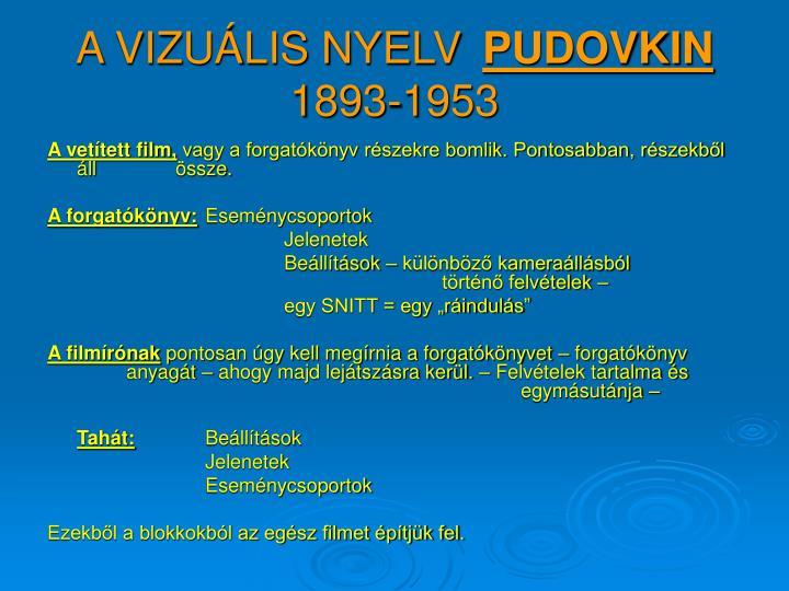 A vizu lis nyelv pudovkin 1893 1953