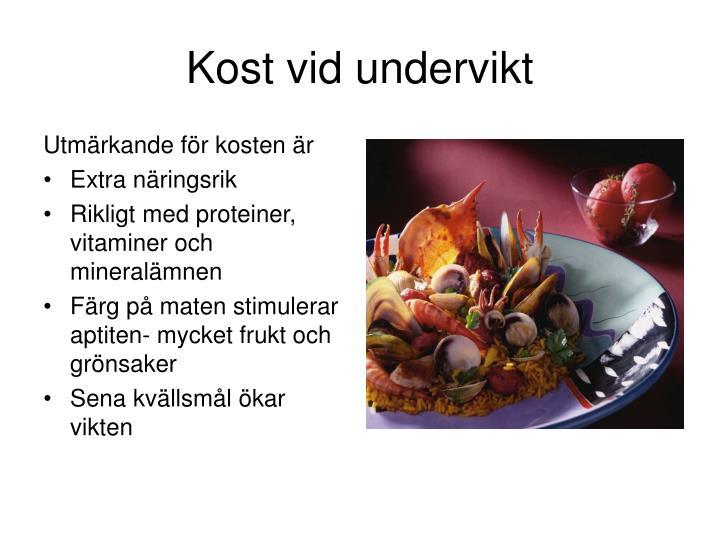 Kost vid undervikt