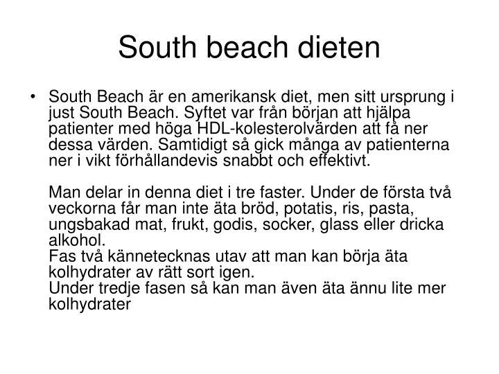 South beach dieten